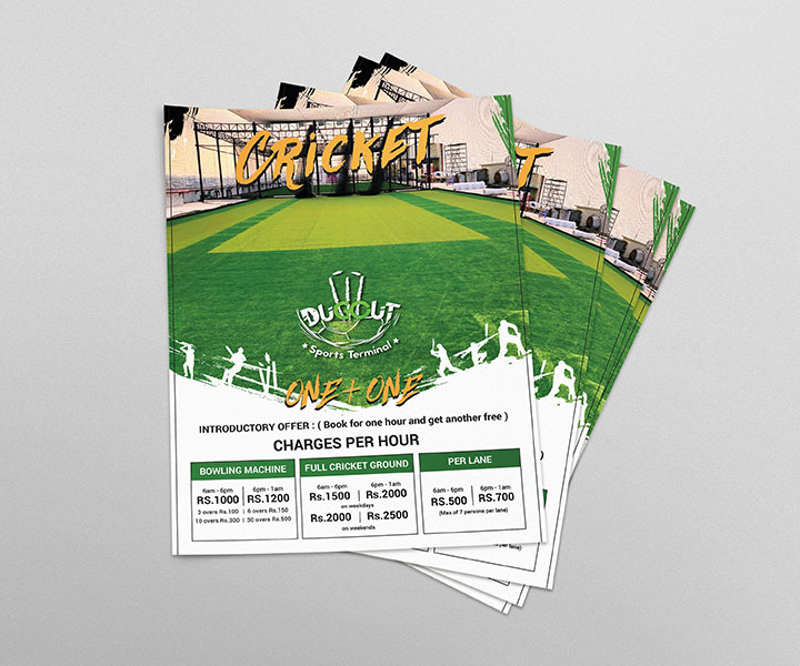 God Particles Flyers and Branding Designs for Dugout